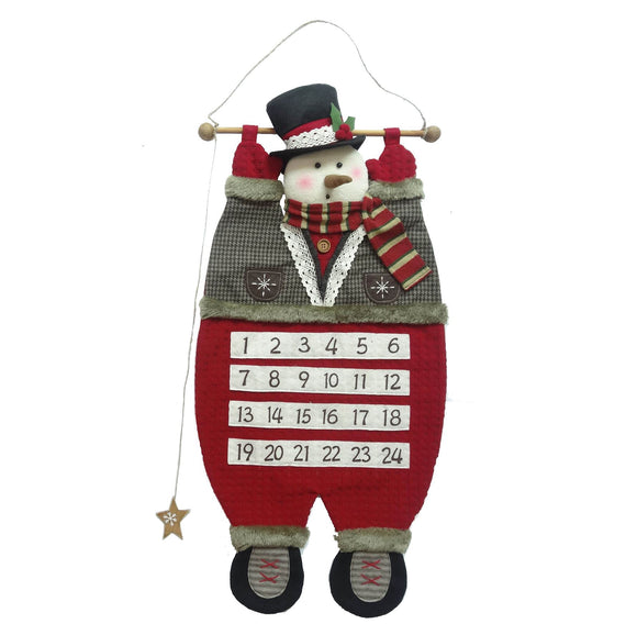 Snowman Hanging Advent Calendar