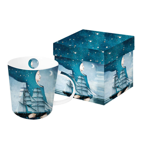Trend Gift Mug Blue Moon Design Boxed - Caths Direct