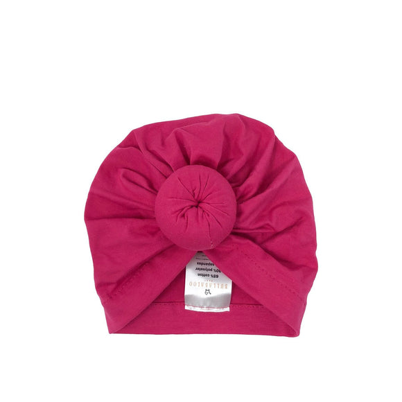 Bullabaloo Top Knot Bonnet - Pink - Caths Direct
