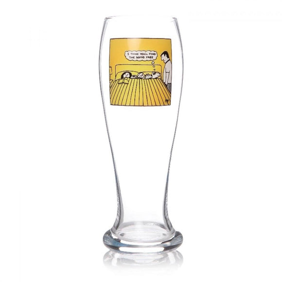 I Think You'll Find The Sofa's Free Beer Glass Off The Leash Design - Caths Direct