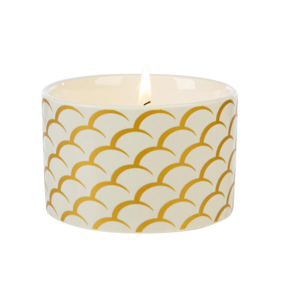 Fired Earth Design Medium Ceramic Candle White Tea & Pomegranate - Caths Direct