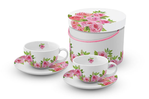 Trend Cappuccino Coffee Cup & Saucer Set of 2 - Caths Direct