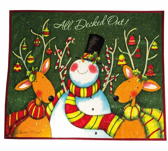 Christmas All Decked Out Throw Blanket - Caths Direct