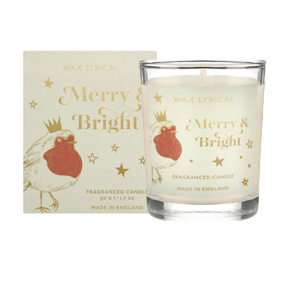 Wax Lyrical Boxed Glass Votive Candle Merry & Bright - Caths Direct