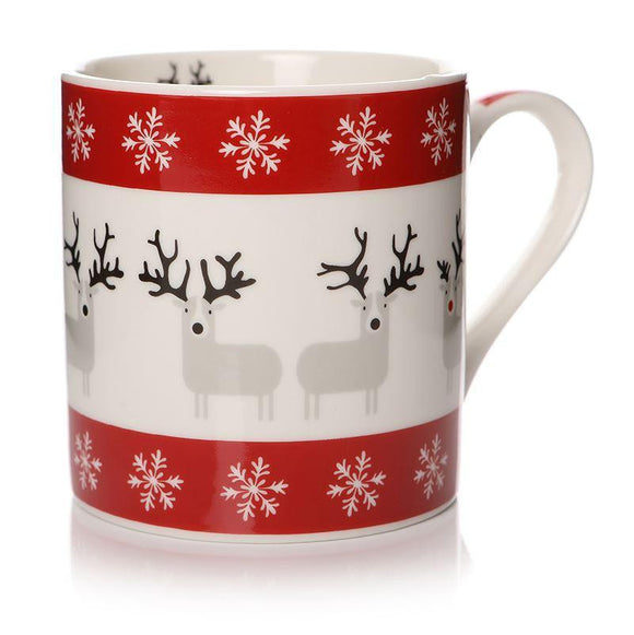 Christmas Reindeer Design Gift Mug - Caths Direct