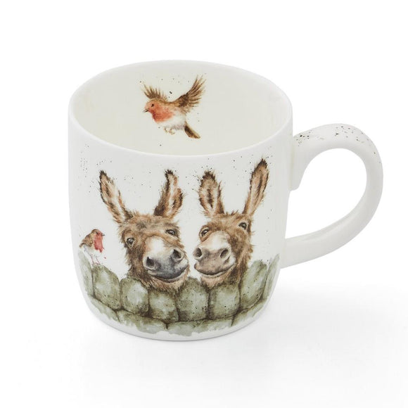 Portmeirion Wrendale Design Hee Haw Donkeys China Mug
