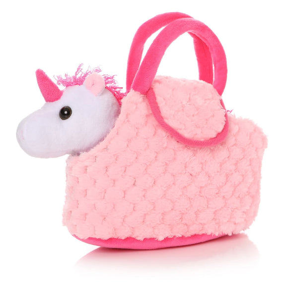 Child's Plush Pink Bag with Unicorn Inside - Caths Direct