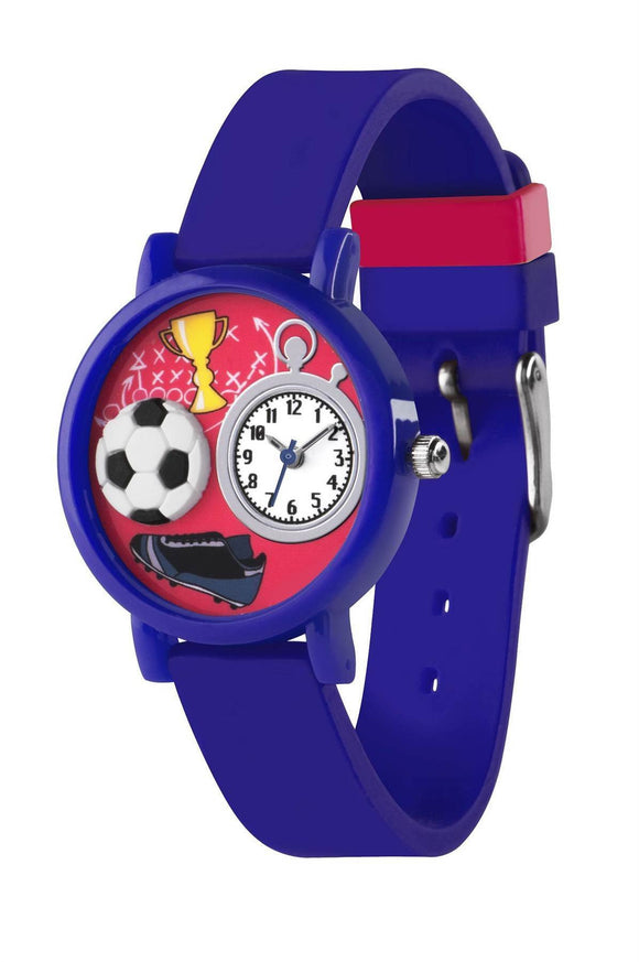 Tikkers Blue Football Theme Watch - Caths Direct
