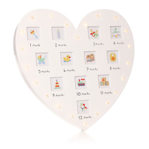 Bae My 1St Year Photo Frame Led Heart 33 - Caths Direct