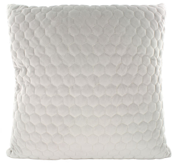 43 x 43 Quilted Cushion Grey Hexagon - Caths Direct