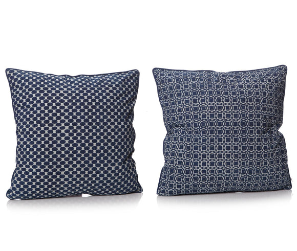 Blue Indigo Square Cushion Duo - Caths Direct