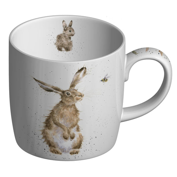 Royal Worcester Wrendale Designs The Hare & the Bee Fine Bone China Mug - Caths Direct