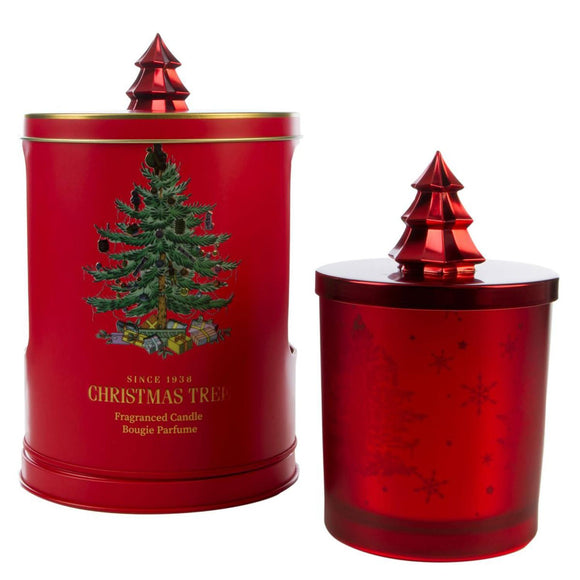 Wax Lyrical Spode Christmas Tree Candle In Musical Tin - Caths Direct