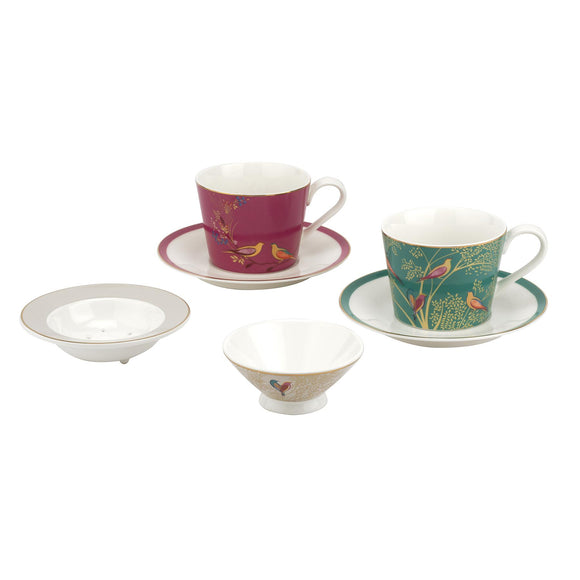 Sara Miller for Portmeirion Chelsea Collection Tea for Two Set Boxed - Caths Direct