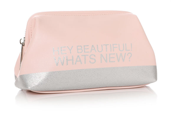 Hey Beautiful Whats New? Make Up Bag - Caths Direct