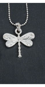 Silver Plated Dragonfly Pendant Necklace - Caths Direct