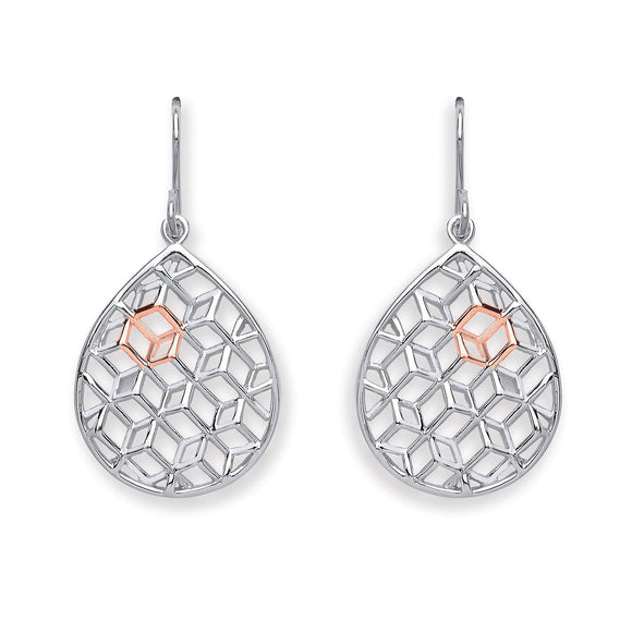 Pear Shaped Design Earrings - Caths Direct