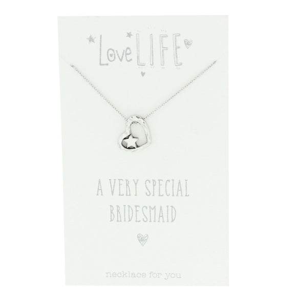Love Life Sentiments Necklace - Special Bridesmaid - Caths Direct