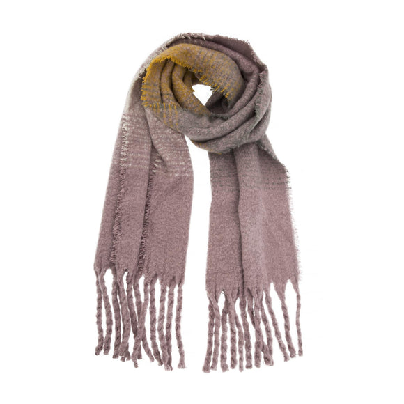 Dents Wisteria Striped Blanket Scarf - Caths Direct