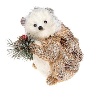 Country Christmas Hedgehog Decoration - Caths Direct