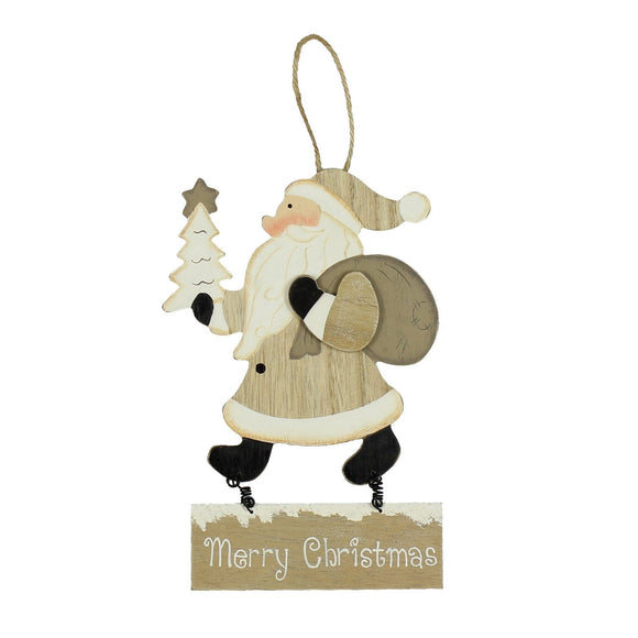 Christmas Wall Hanging Santa Plaque - Caths Direct
