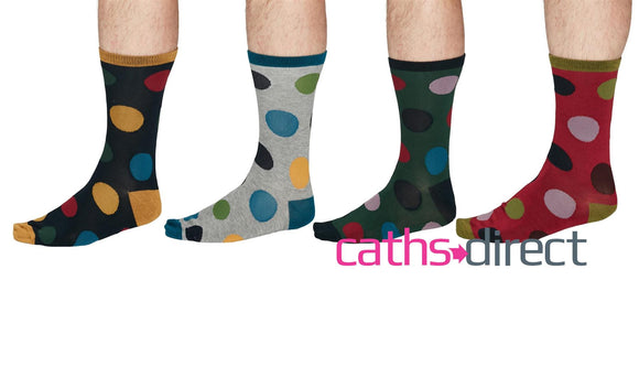 Mens Soft Bamboo Newton Spot Socks Size 7-11 by Thought - Caths Direct