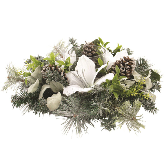 Festive Pillar Candle Centrepiece - Caths Direct