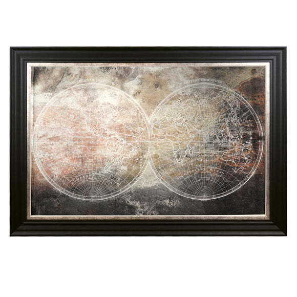 'Timelines' Framed Metallic Canvas Print - Caths Direct