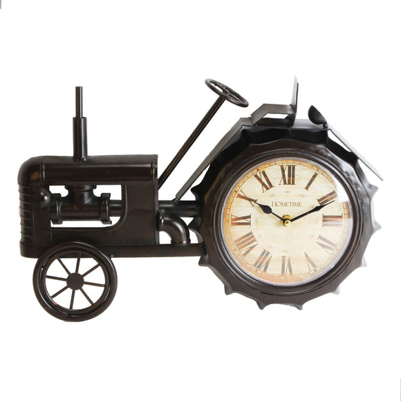 Tractor Metal Mantel Clock