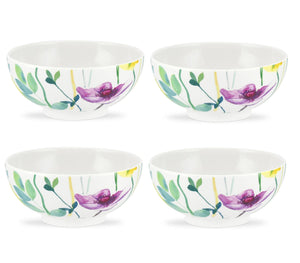Portmeirion Water Garden Footed Bowls Set of 4 - Caths Direct