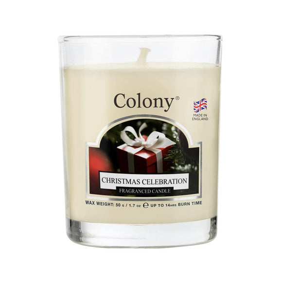 Wax Lyrical Colony Glass Votive Candle Christmas Celebration - Caths Direct
