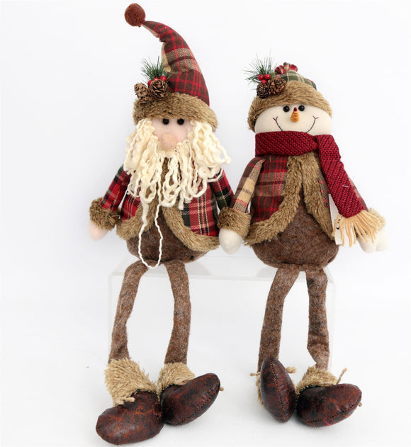 Sitting Santa or Snowman Christmas Decoration - Caths Direct