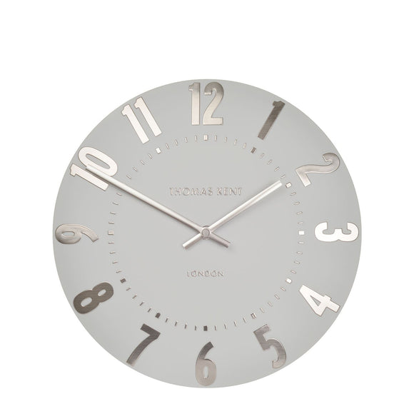 Mulberry Wall Clock in Silver Cloud 12