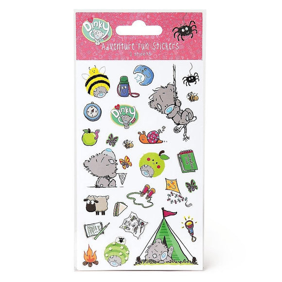 My Dinky Bear Adventure Fun Stickers Pack of 3 Sheets Me To You