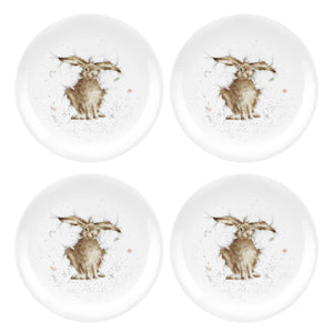 Wrendale by Royal Worcester Set of 4 Plates Hare Design - Caths Direct