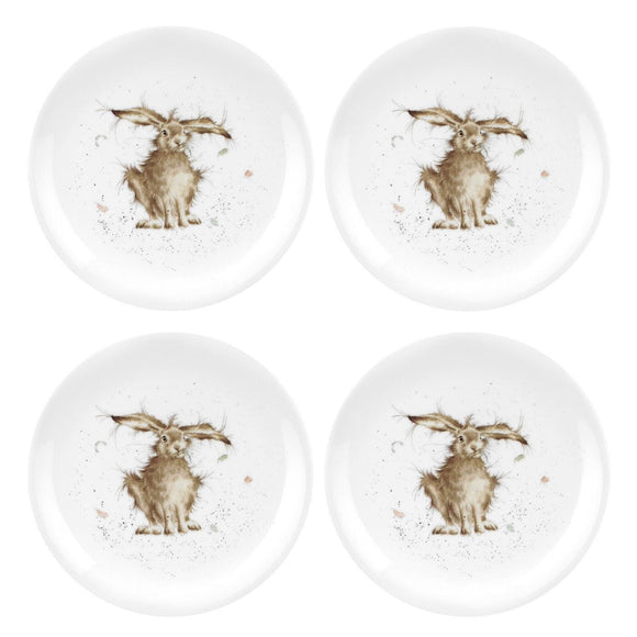 Wrendale by Royal Worcester Set of 4 Plates Hare Design