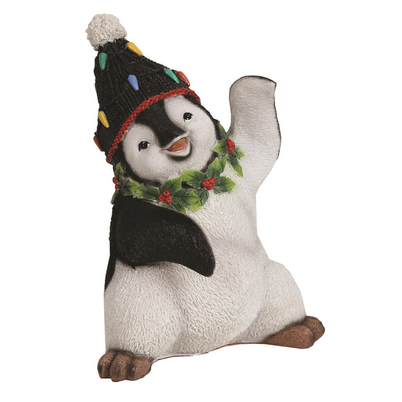 Festive Penguin Christmas Ornament 17cm