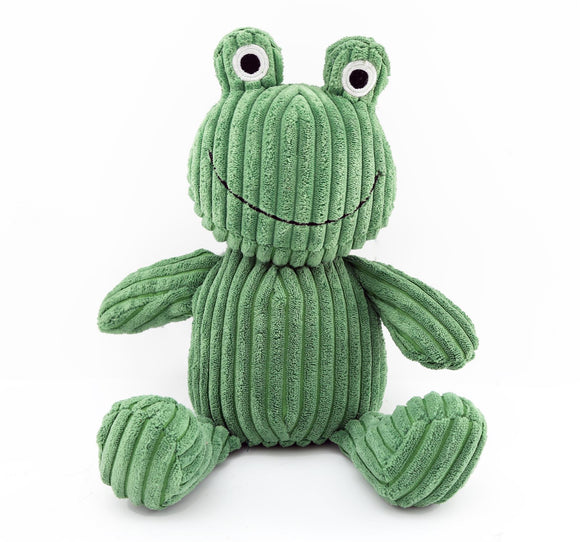 Green Corduroy Frog Doorstop 26cm - Caths Direct