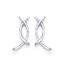 Purity Wishbone Earrings - Caths Direct