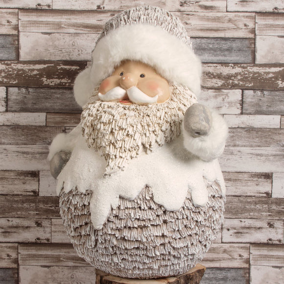 Large Santa Figure with Lantern - Caths Direct