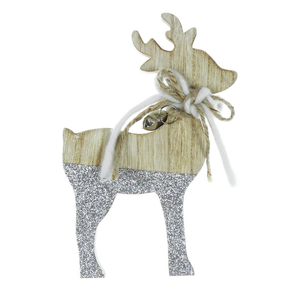 Wooden Reindeer Christmas Decoration - Caths Direct