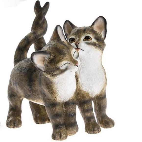 Pair of Cute Kittens Figurine Brown - Caths Direct