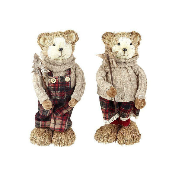 Festive Sisal Bear Boy or Girl - Caths Direct