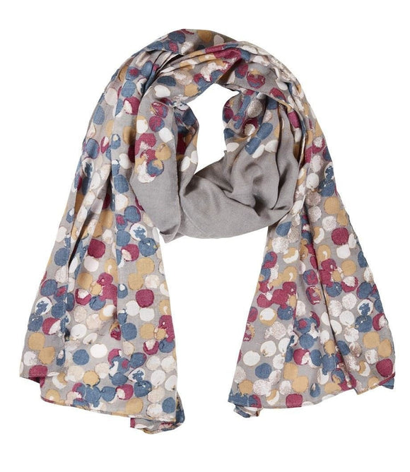 Quintessential Luna Design Silver Grey Scarf - Caths Direct
