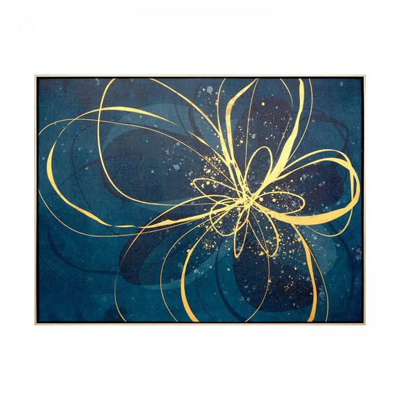 Gold Ribbon Design Framed Print - Caths Direct
