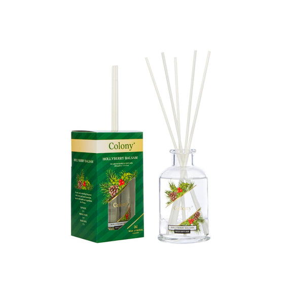 Wax Lyrical Colony Classic Christmas Hollyberry Balsam 100ml Reed Diffuser - Caths Direct