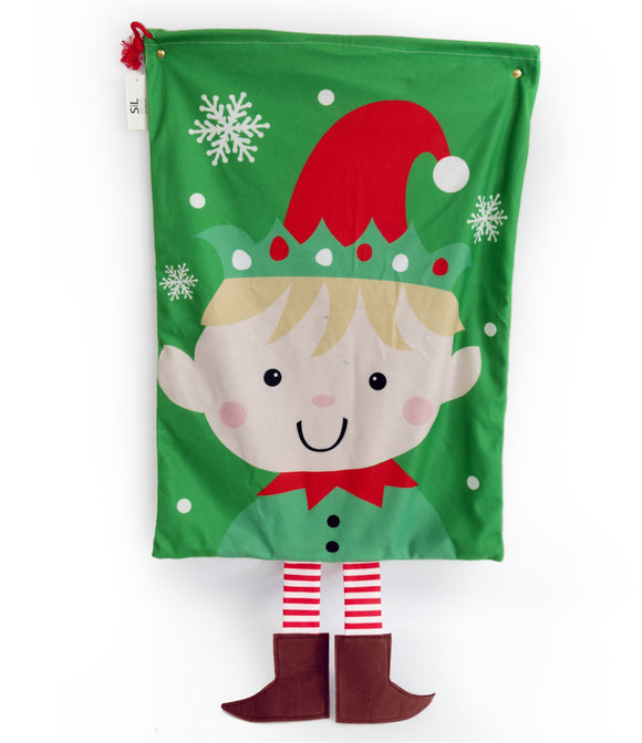 Elf Christmas Sack - Caths Direct