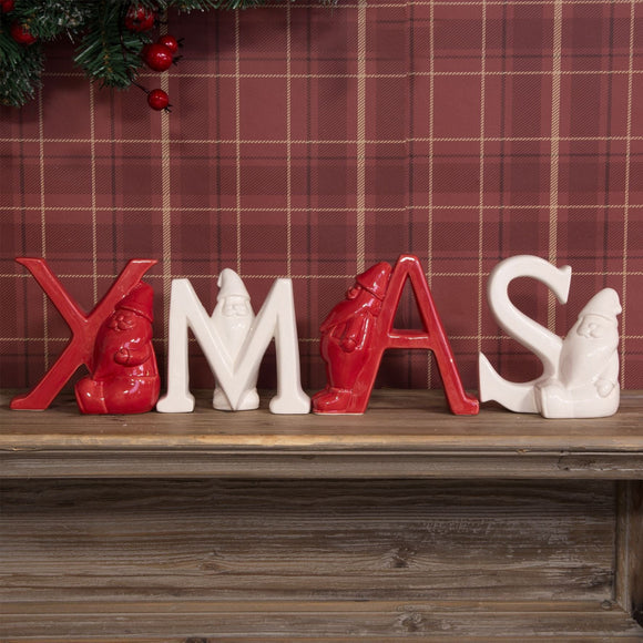 Red & White Letter Spelling XMAS