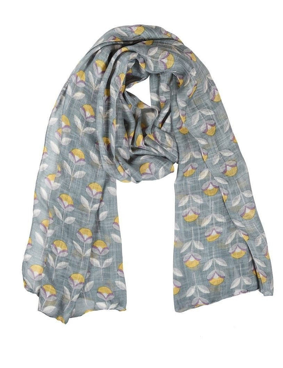 Quintessential Petal Print Ladies Scarf - Caths Direct