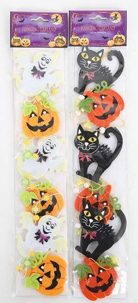 Halloween Garland Decorations Choose Cats or Ghosts - Caths Direct